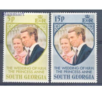Znaczek Georgia Południowa i Sandwich Południowy 1973 Mi 45-46 Czyste **