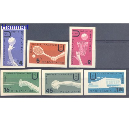 Znaczek Bułgaria 1961 Mi 1237-1242 Czyste **