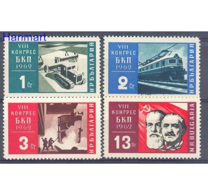 Znaczek Bułgaria 1962 Mi 1351-1354 Czyste **