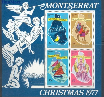 Znaczek Montserrat 1977 Mi bl 14 Czyste **