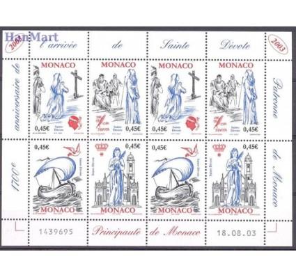 Znaczek Monako 2003 Mi ark 2665-2668 Czyste **