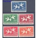 Gwinea 1959 Mi 26-30 Czyste **