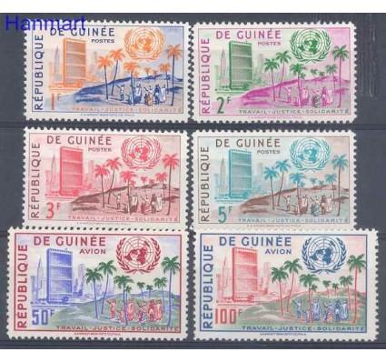 Znaczek Gwinea 1959 Mi 31-36 Czyste **