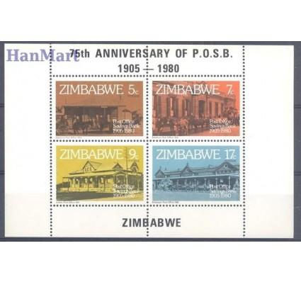Znaczek Zimbabwe 1980 Mi bl 6 Czyste **