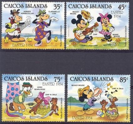 Znaczek Caicos Islands 1984 Mi 42-45 Czyste **