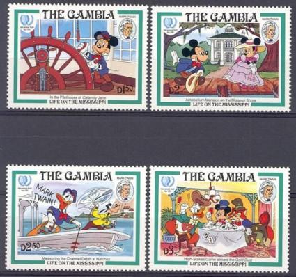 Znaczek Gambia 1985 Mi 566-569 Czyste **
