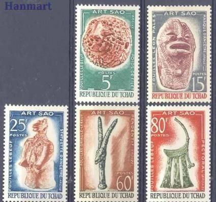 Znaczek Czad 1963 Mi 101-105 Czyste **