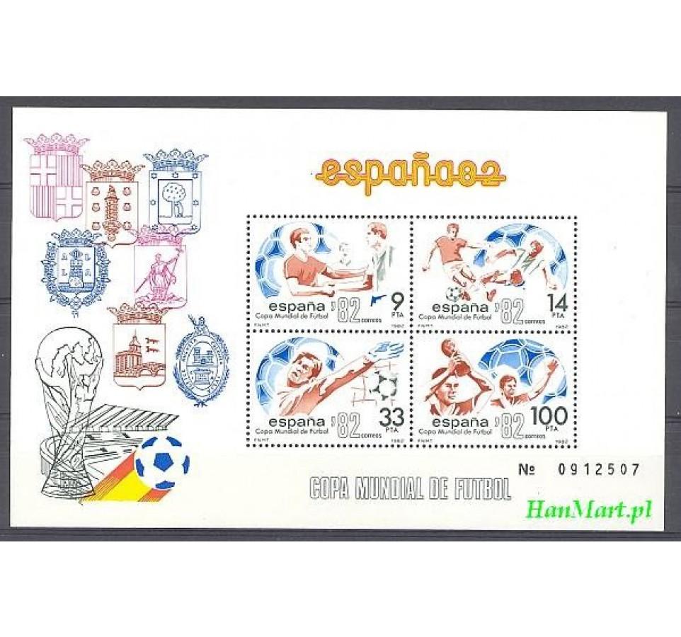 Hiszpania 1982 Mi bl 25 Czyste **