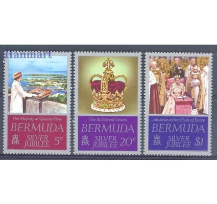 Znaczek Bermudy 1977 Mi 336-338 Czyste **