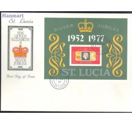 Znaczek Saint Lucia 1977 Mi bl 11 FDC