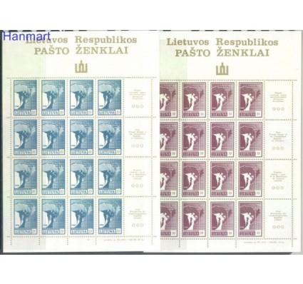 Znaczek Litwa 1990 Mi ark 457-460 Czyste **