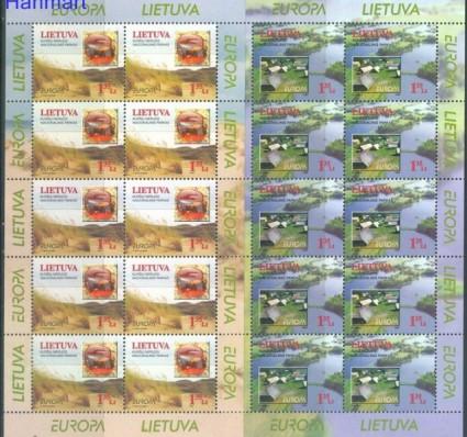 Znaczek Litwa 1999 Mi ark 693-694 Czyste **