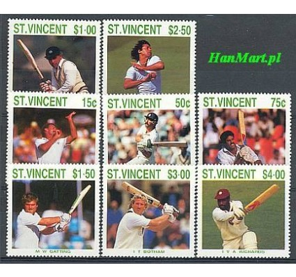 Znaczek St. Vincent 1988 Mi 1120-1127 Czyste **