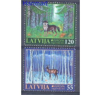 Znaczek Łotwa 2011 Mi 804-805 Czyste **