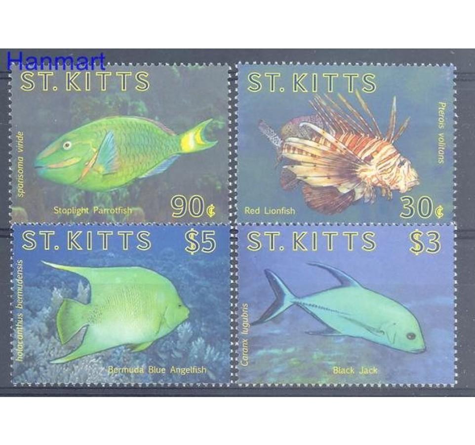 Saint Kitts 2010 Mi 1105-1108 Czyste **