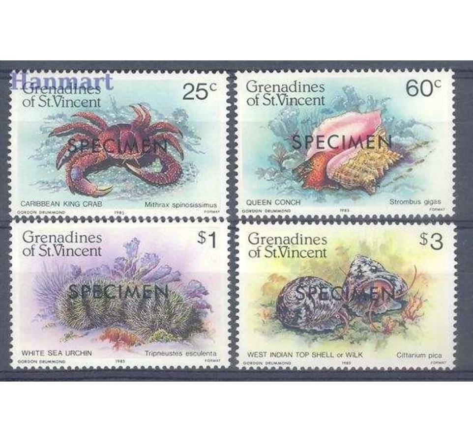 Grenadines of St Vincent 1985 Mi 371-374 Czyste **