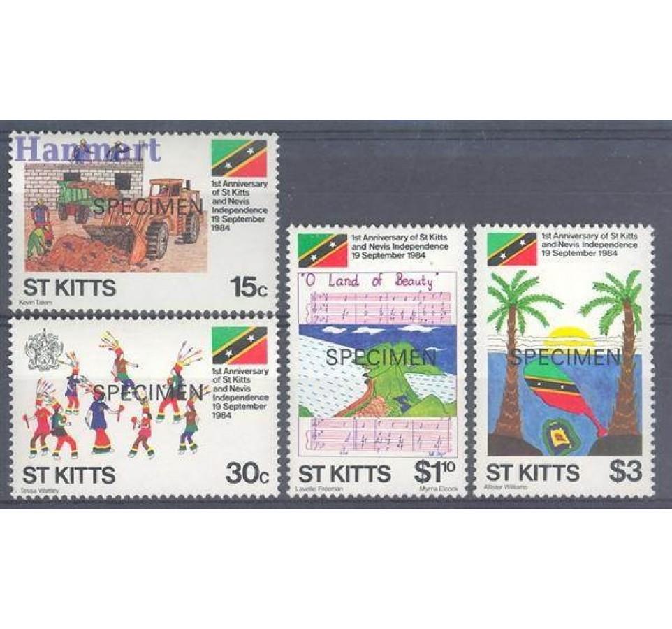 Saint Kitts 1984 Mi 148-151 Czyste **