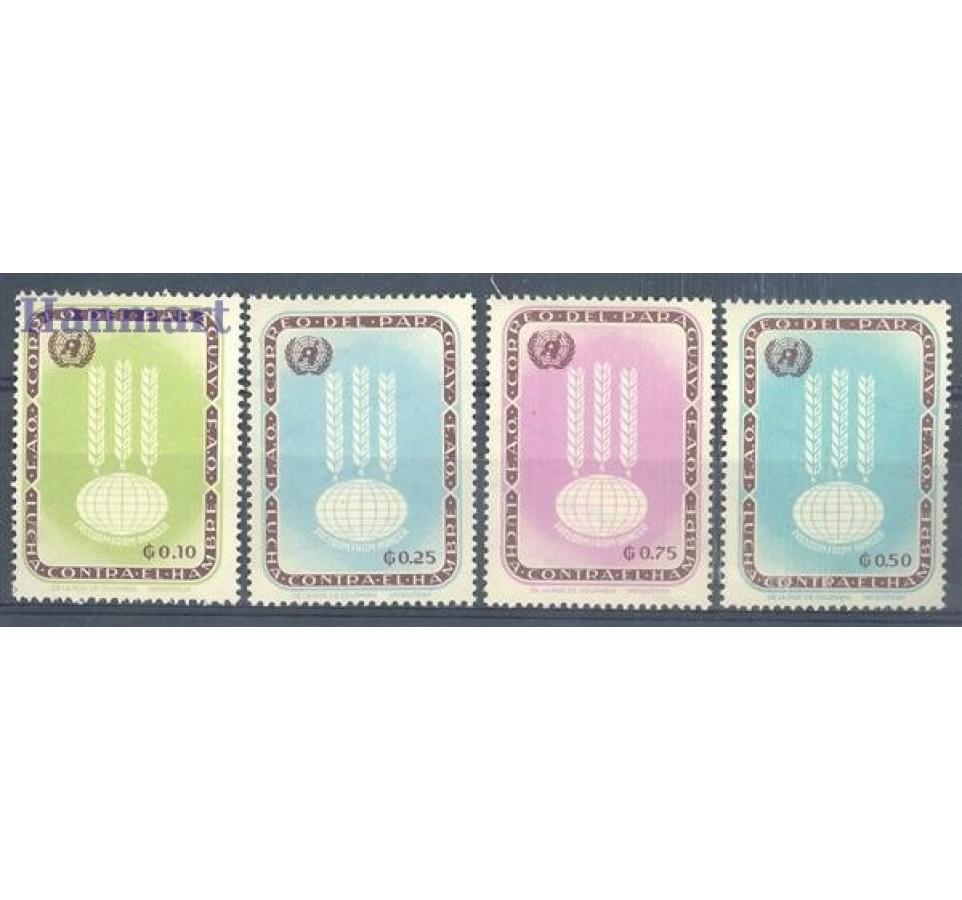 Paragwaj 1963 Mi 1208-1211 Czyste **