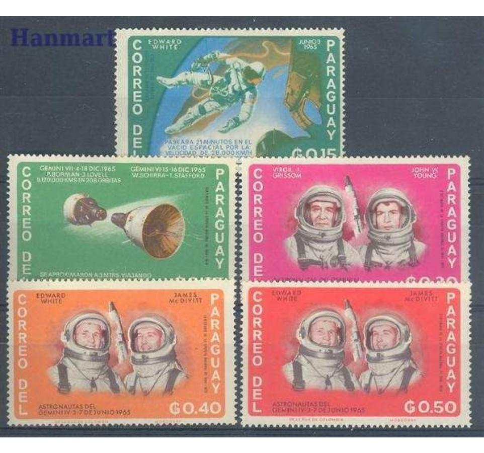 Paragwaj 1966 Mi 1503-1507 Czyste **