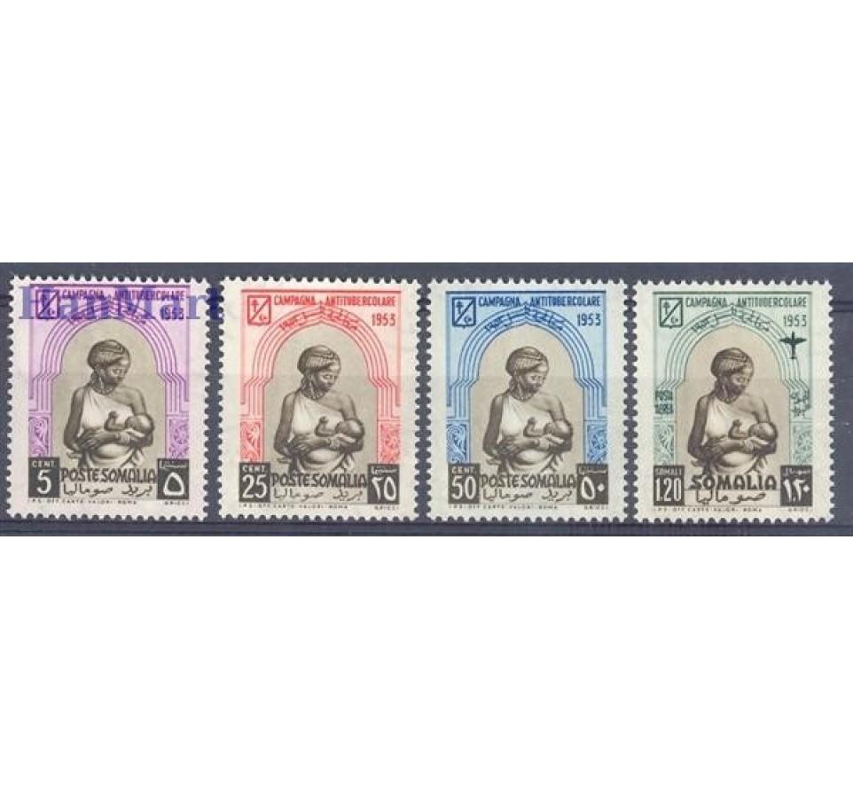 Somaliland Włoski 1953 Mi 275-278 Czyste **