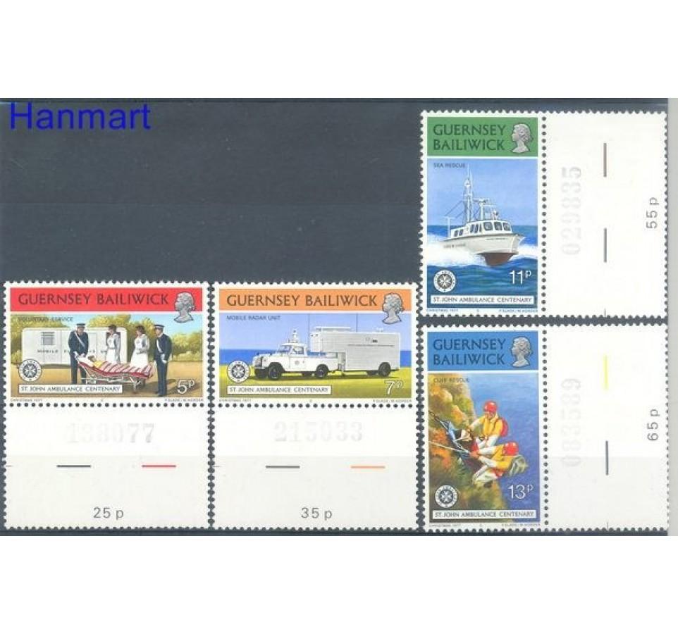Guernsey 1977 Mi zf 153-156 Czyste **