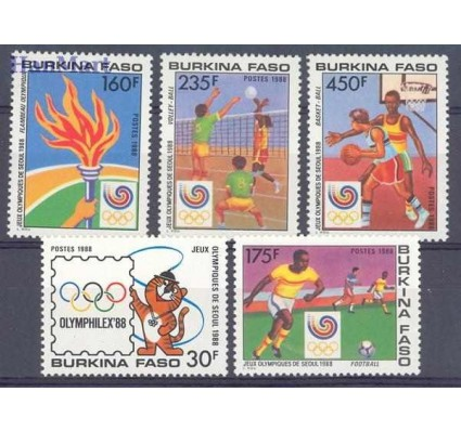 Burkina Faso 1988 Mi 1166-1170 Czyste **