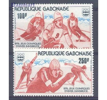 Znaczek Gabon 1976 Mi 583-584 Czyste **