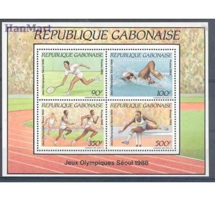 Znaczek Gabon 1988 Mi bl 60 Czyste **