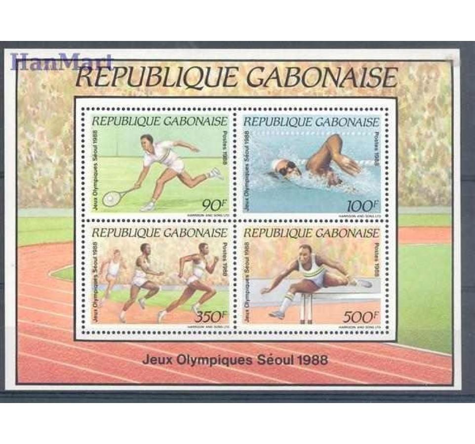 Gabon 1988 Mi bl 60 Czyste **