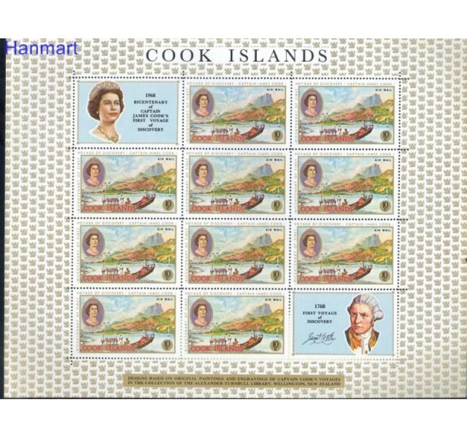 Wyspy Cooka 1968 Mi 193-200 Z podlepką *