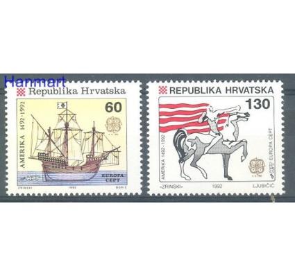 Chorwacja 1992 Mi 211-212 Czyste **
