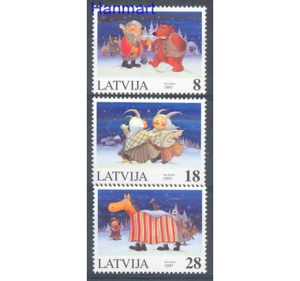 Znaczek Łotwa 1997 Mi 471-473 Czyste **