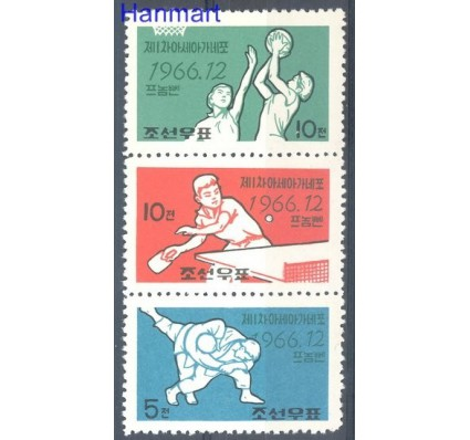 Znaczek Korea Północna 1966 Mi 732-734 Czyste **