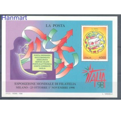Znaczek Włochy 1998 Mi bl 18 Czyste **