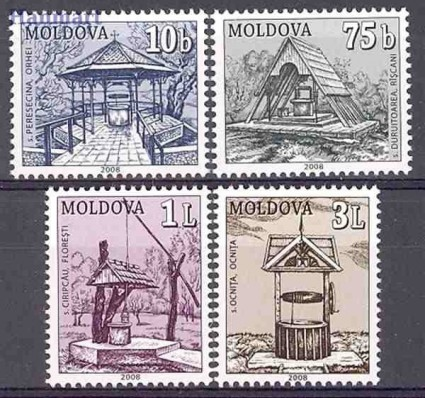Mołdawia 2008 Mi 604-607 Czyste **