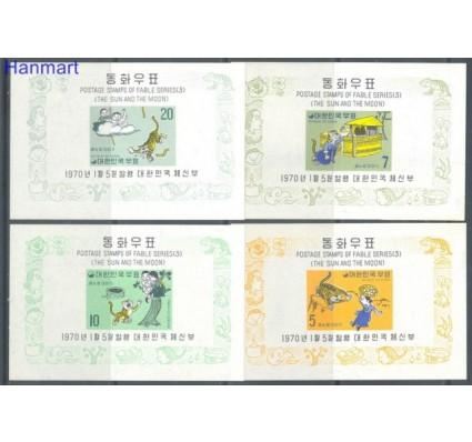Znaczek Korea Południowa 1970 Mi bl 295-298 Czyste **