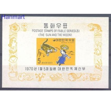 Znaczek Korea Południowa 1970 Mi bl 295 Czyste **