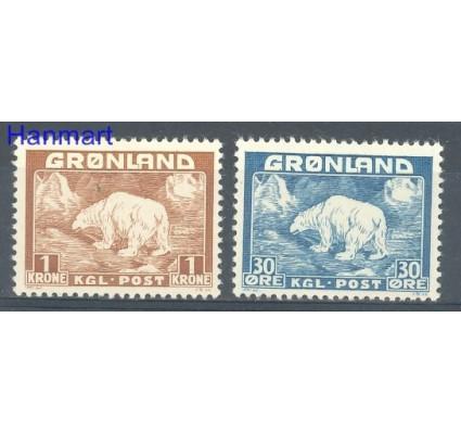 Znaczek Grenlandia 1938 Mi 6-7 Czyste **