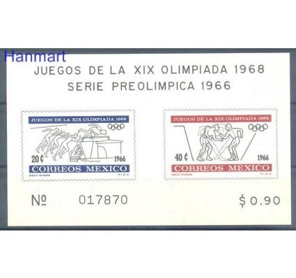 Meksyk 1966 Mi bl 5 Czyste **