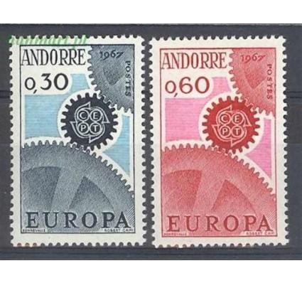 Znaczek Andora Francuska 1967 Mi 199-200 Czyste **