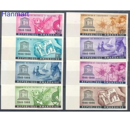 Znaczek Rwanda 1966 Mi 193-200B Czyste **