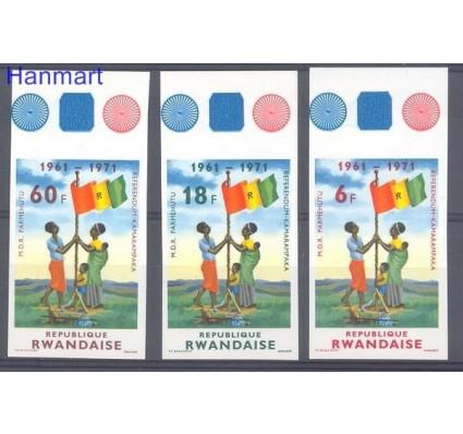 Rwanda 1972 Mi 497-499B Czyste **