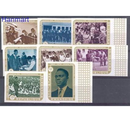 Rwanda 1972 Mi 513-520B Czyste **