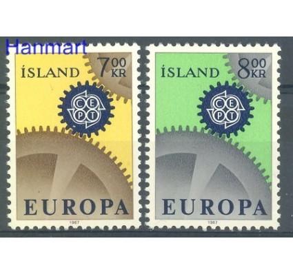 Znaczek Islandia 1967 Mi 409-410 Czyste **