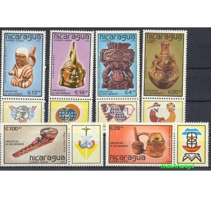 Znaczek Nikaragua 1988 Mi 2917-2922 Czyste **