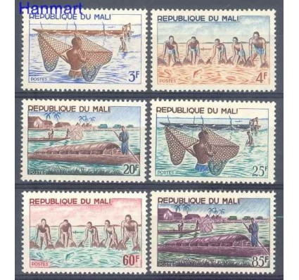 Znaczek Mali 1966 Mi 125-130 Czyste **