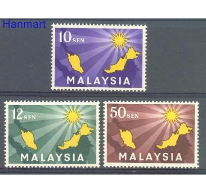 Znaczek Malezja 1963 Mi 1-3 Czyste **