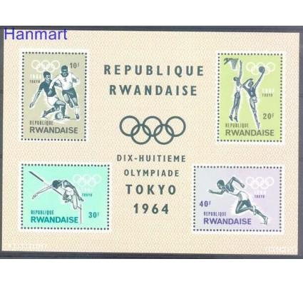 Znaczek Rwanda 1964 Mi bl 2 Czyste **