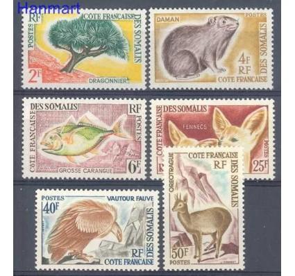 Znaczek Somali Francuskie 1962 Mi 336-341 Czyste **