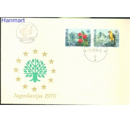 Znaczek Jugosławia 1970 Mi 1406-1407 FDC